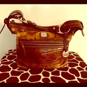 Dooney and Bourke brown croco leather purse